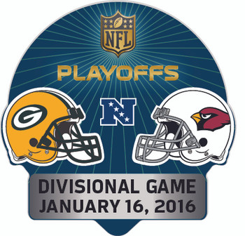 2016 NFL Playoffs Matchup Pin - Packers vs. Cardinals