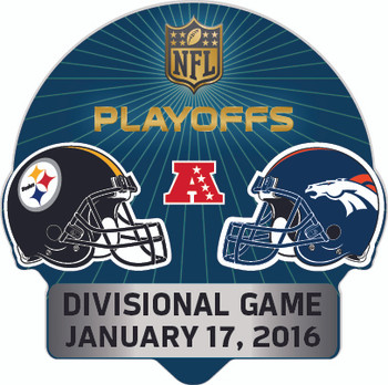2016 NFL Playoffs Matchup Pin - Steelers vs. Broncos
