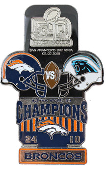 Super Bowl L (50) Oversized Commemorative Pin - One Piece