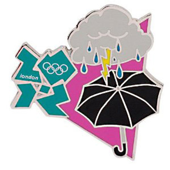 "London 2012 Olympics ""London Weather"" Pin"