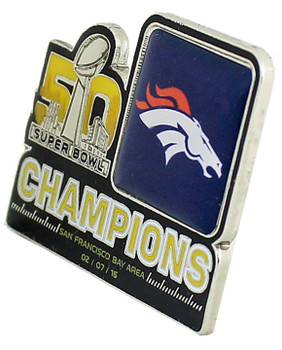 Denver Broncos 2016 Super Bowl L (50) Champions Pin