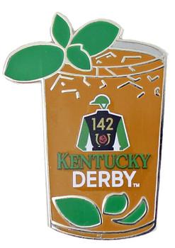 2016 Kentucky Derby 142 Mint Julep Glass Pin