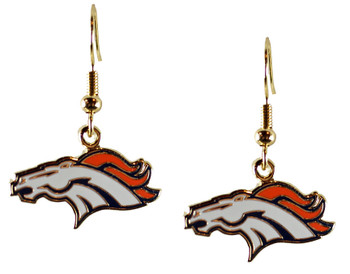 Denver Broncos Logo Earrings - Gold