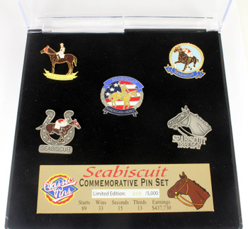 Seabiscuit Five Pin Collector Set - Limited 1,000