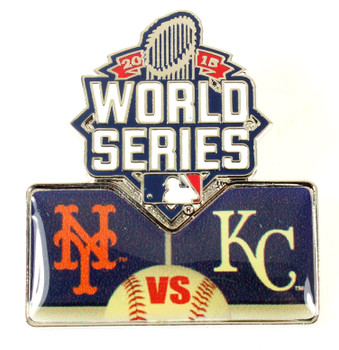 2015 World Series Royals vs. Mets Head To Head Pin