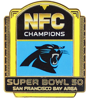 Carolina Panthers 2015 NFC Champions Pin - Super Bowl 50 Bound
