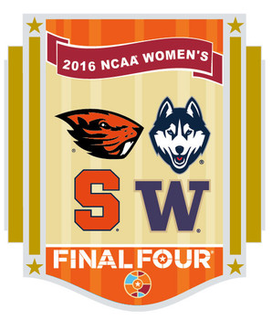 2016 Women's Final Four Dueling Teams Pin - Uconn, Washington, Syracuse, Oregon State