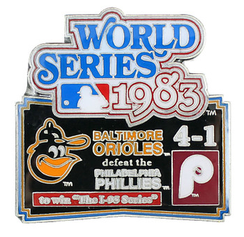 1983 World Series Commemorative Pin - Orioles vs. Phillies
