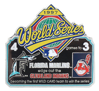 1997 World Series Commemorative Pin - Marlins vs. Indians