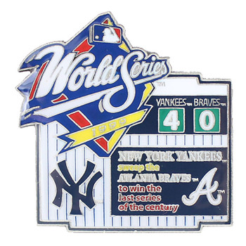 1999 World Series Commemorative Pin - Yankees vs. Braves