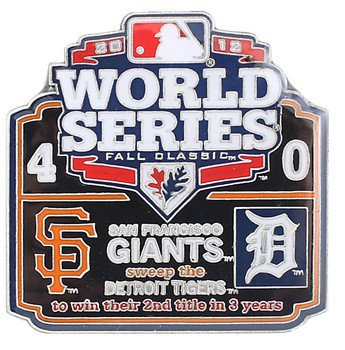 2012 World Series Commemorative Pin - Giants vs. Tigers