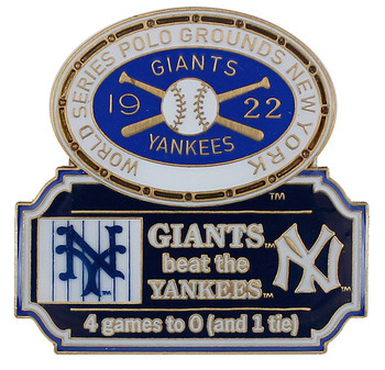 1922 World Series Commemorative Pin - Giants vs. Yankees