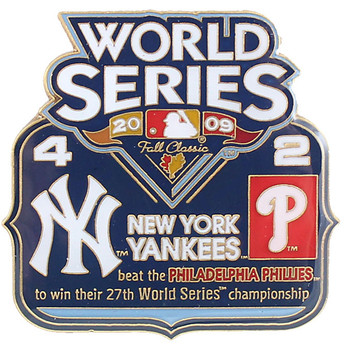 2009 World Series Commemorative Pin - Yankees vs. Phillies