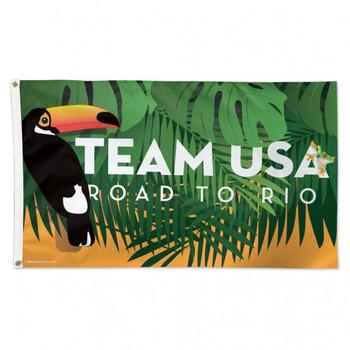 Road To Rio de Janeiro 2016 Olympics Flag 3'x5'