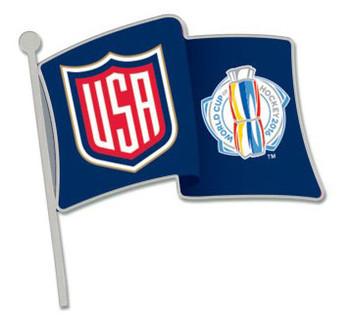 2016 World Cup of Hockey Team USA Flag Pin