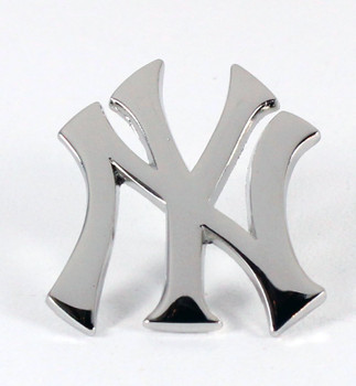 "New York Yankees ""NY"" Logo Pin - Silver"