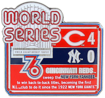 1976 World Series Commemorative Pin - Reds vs. Yankees