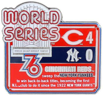 1976 World Series Commemorative Pin - Reds vs. Yankees