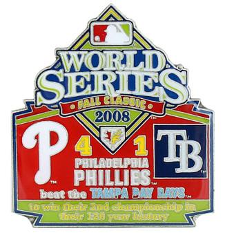 2008 World Series Commemorative Pin - Phillies vs. Rays
