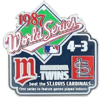 1987 World Series Commemorative Pin - Twins vs. Cardinals