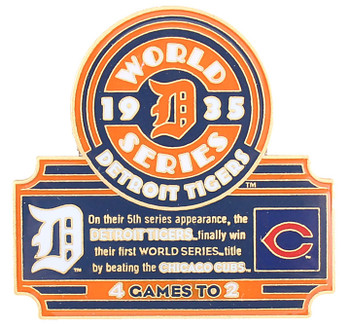 1935 World Series Commemorative Pin - Tigers vs. Cubs