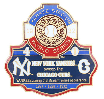 1932 World Series Commemorative Pin - Yankees vs. Cubs
