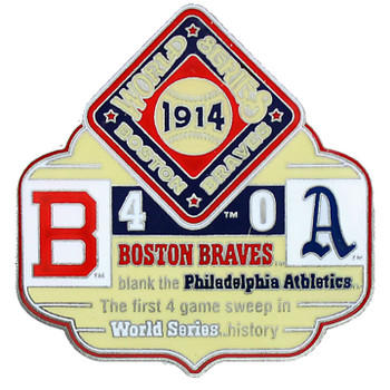 1914 World Series Commemorative Pin - Braves vs. Athletics
