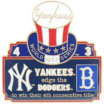 1952 World Series Commemorative Pin - Yankees vs. Dodgers