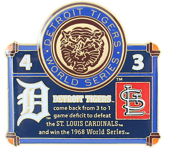 1968 World Series Commemorative Pin - Tigers vs. Cardinals