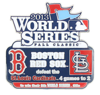 2013 World Series Commemorative Pin - Red Sox vs. Cardinals
