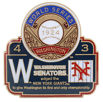 1924 World Series Commemorative Pin - Senators vs. Giants