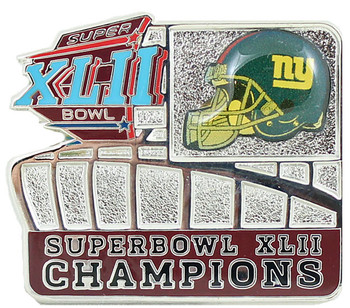 New York Giants Super Bowl XLII Champions Stadium Pin
