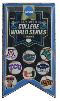 2016 NCAA College World Series Teams Pin - 2""