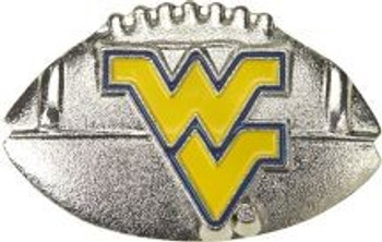 West Virginia 3-D Football Pin