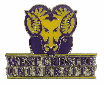 West Chester Golden Rams Logo Pin
