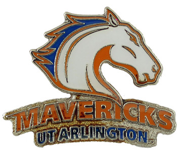 Texas Arlington Mavericks Logo Pin