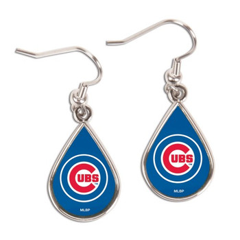 Chicago Cubs Tear Drop Earrings