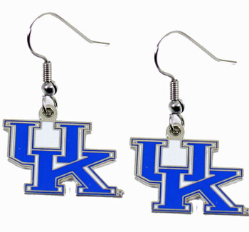 University of Kentucky Earrings - Silver