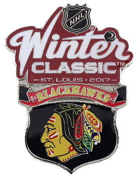 2017 NHL Winter Classic Chicago Blackhawks Team Pin