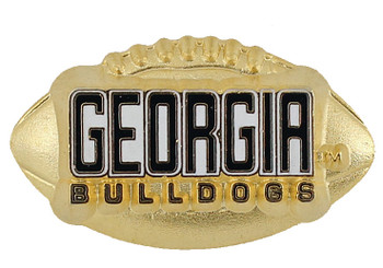 Georgia Bulldogs 3-D Football Pin