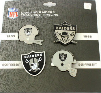 Oakland Raiders Evolution Pin Set