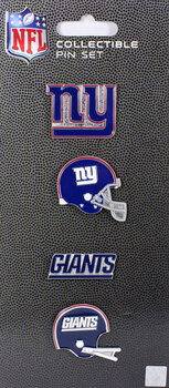 New York Giants Evolution Pin Set