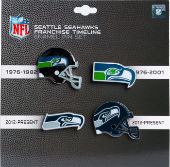 Seattle Seahawks Logo / Helmet Evolution Pin Set