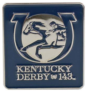 2017 Kentucky Derby (143rd) Square Logo Pin