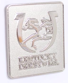 2017 Kentucky Derby (143rd) Silver Logo Pin