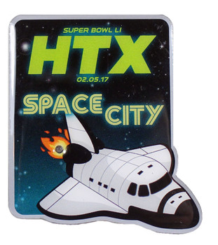Super Bowl LI (51) HTX Space City Pin w/ Blinking Light