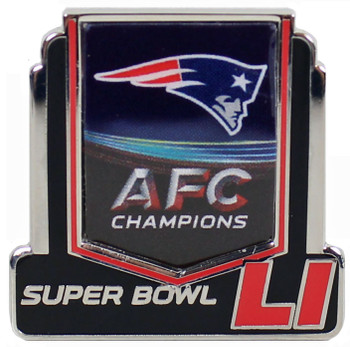 New England Patriots 2016 AFC Champions Super Bowl 51 Pin