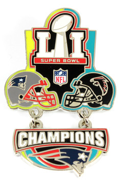 Super Bowl LI (51) Oversized Commemorative Pin - Dangler Style