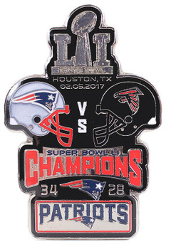 Super Bowl LI (51) Oversized Commemorative Pin - One Piece