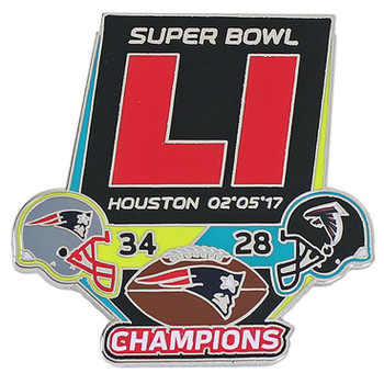 Super Bowl LI (51) Champions Ultimate Pin - Limited  1,000 - Medium Style